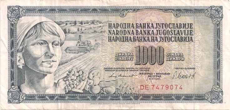 Motivseite: Geldschein-Europa-Südosteuropa-Jugoslawien-Dinar-1000.00-1981