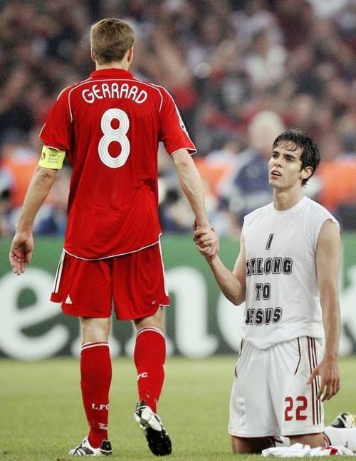 Steven Gerrard and Kakà