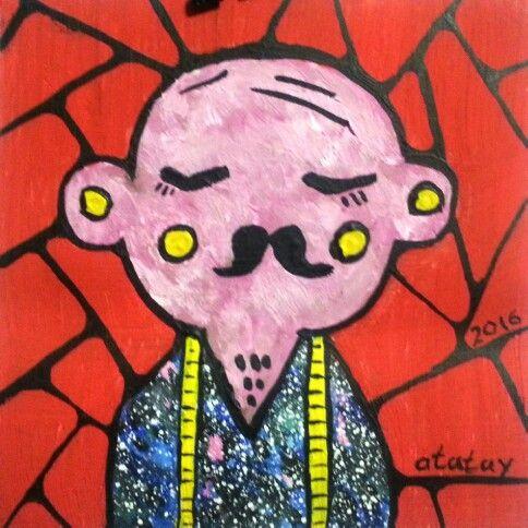 Art space drawind by atatay космос, лицо, обезьяна, 2016, рисунок, ататай