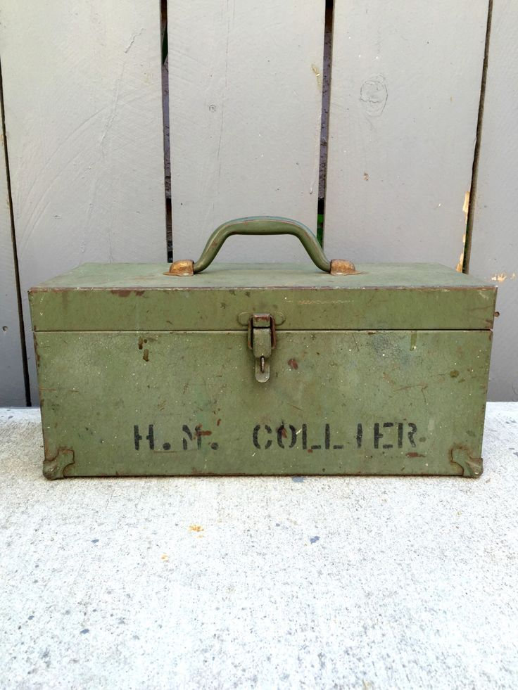 A personal favorite from my Etsy shop https://www.etsy.com/listing/277187070/vintage-kennedy-kits-green-metal-tool