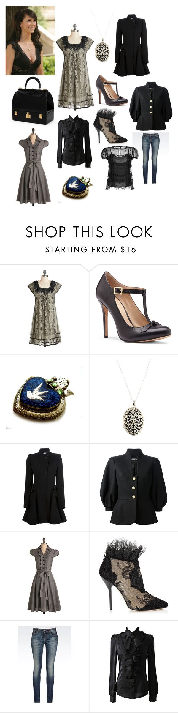 """Melinda Gordon"" by inspyredvintage ❤ liked on Polyvore featuring Sole Society, Nina Breddal, Hermès, Alexander McQueen, Jimmy Choo, Armani Jeans and RED Valentino"