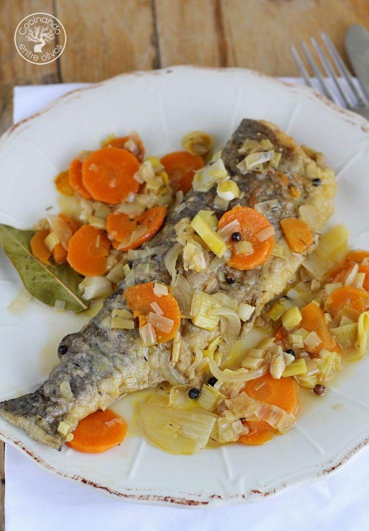 Cocinando entre olivos truchas en escabeche receta paso for Cocinando entre olivos