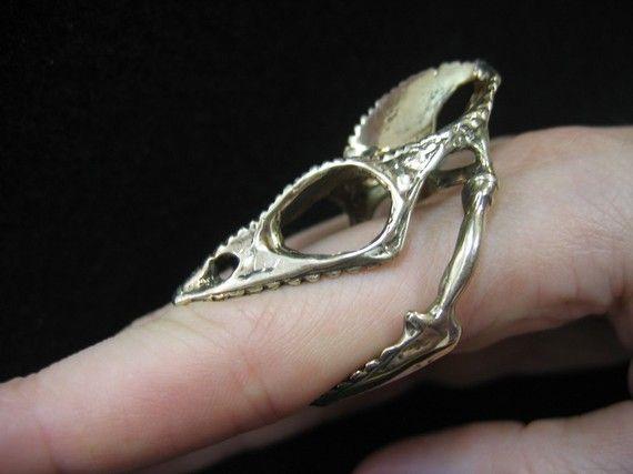 chameleon skull ring