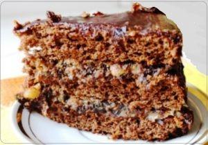 Торт с черносливом в шоколадной глазури | Рецепты вкусно