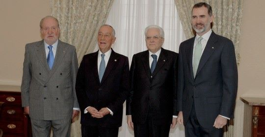 King Felipe presided, with His Excellency the President of Italy, Sergio Mattarella, and His Excellency the President of Portugal, Marcelo Rebelo de Sousa, the XI Summit of COTEC Europe, held at th…
