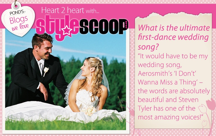 Dimi from StyleScoop.co.za tells us her first dance wedding song.