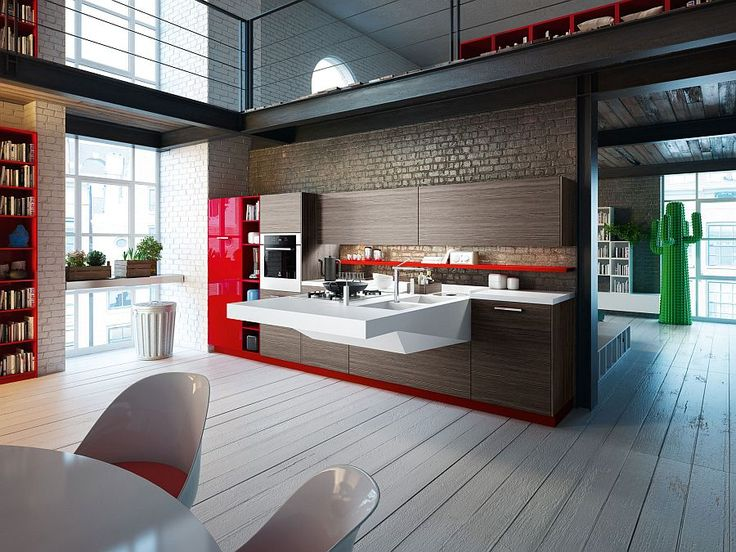 Versatile kitchen compositions for the urbane home
