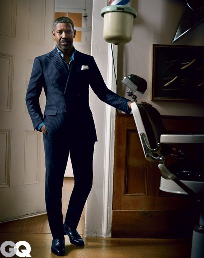 Denzel Washington - GQ Photo Shoot! I wouldn't mind that coming home to me everynight! His wife his lucky and blessed!