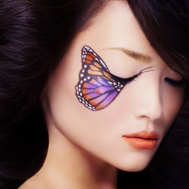 Butterfly makeup for Fairy costume