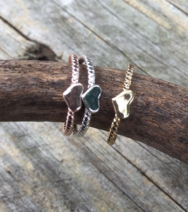 A delightful trio of stacking rings $8 in Yellow, Rose or Silver plate.