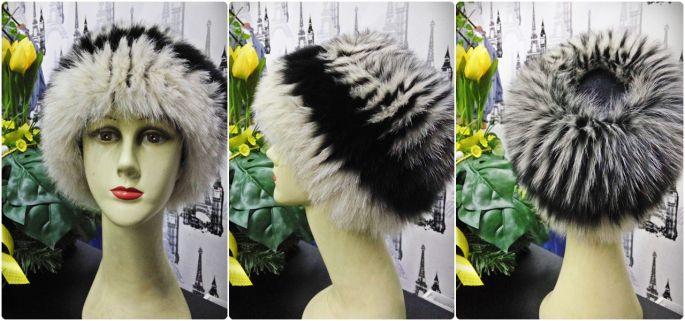 Caciula de iarna Compozitie: blana 100% naturala de vulpe, pe tricot elastic