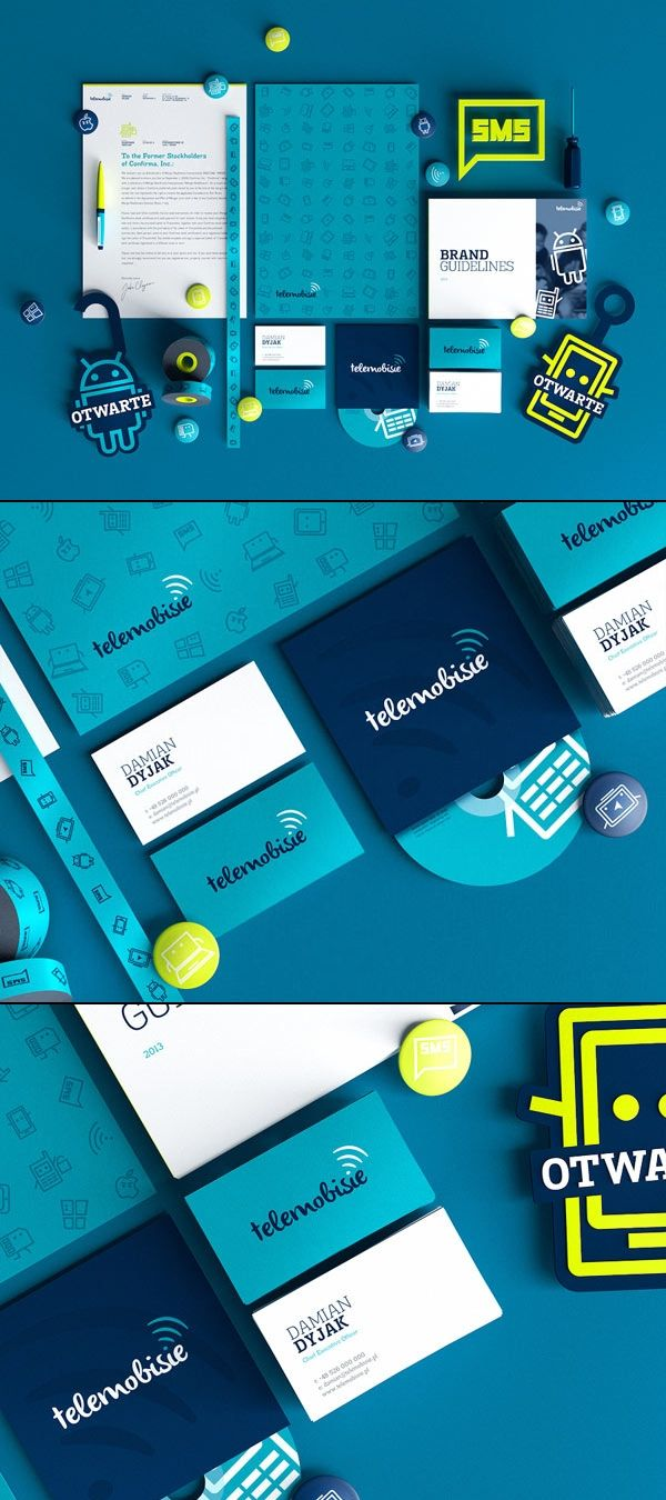 Telemobisie Brand Identity by Gosia and Wojciech Zalot | #stationary #corporate #design #corporatedesign #identity #branding #marketing < repinned by www.BlickeDeeler.de | Take a look at www.LogoGestaltung-Hamburg.de