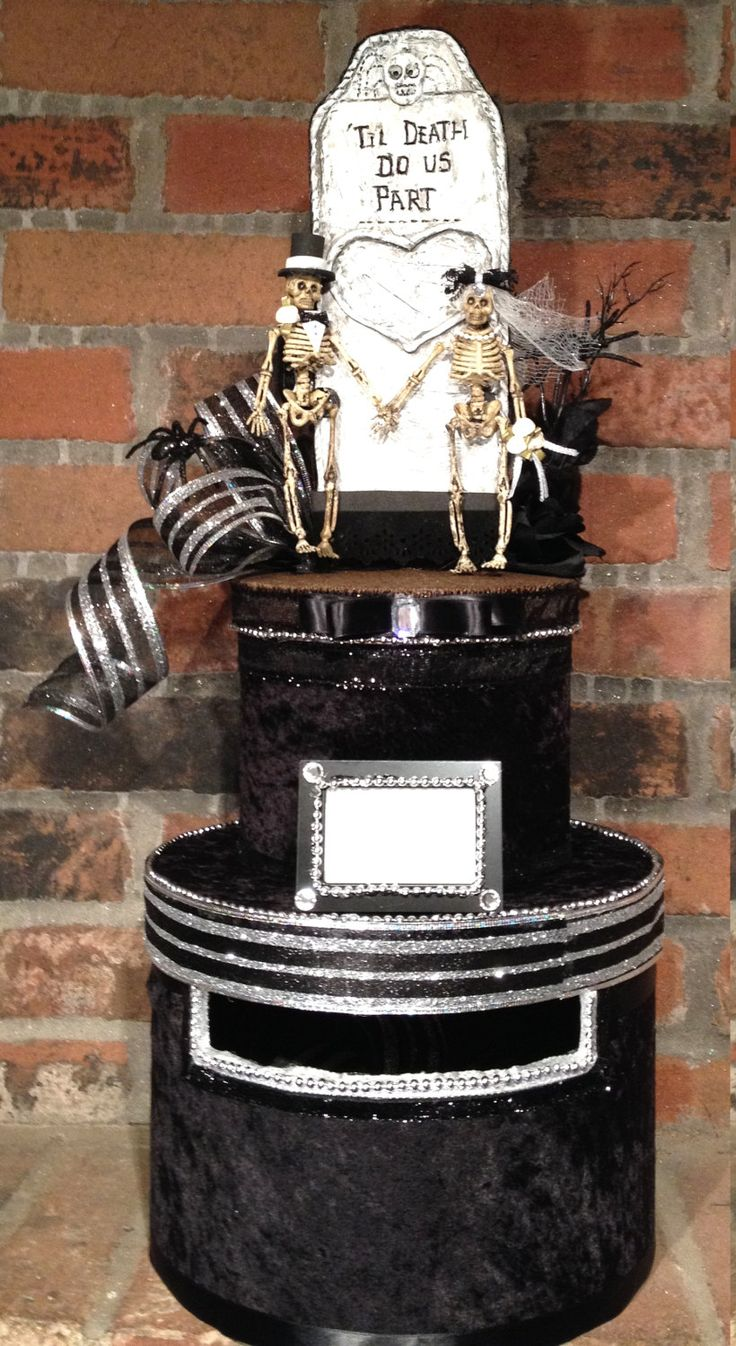 Halloween Goth Wedding Card BoxGoth WeddingSkull WeddingHalloween Decorationcard