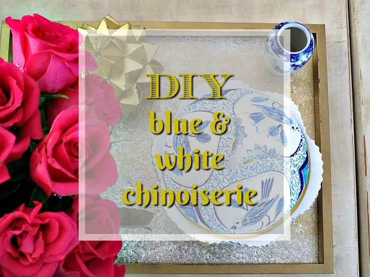 DIY blue and white chinoiserie bowl