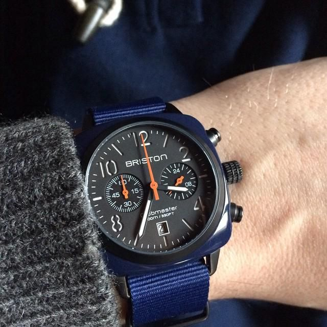 [New Collection] Clubmaster Classic Navy Military. www.briston-watches.com