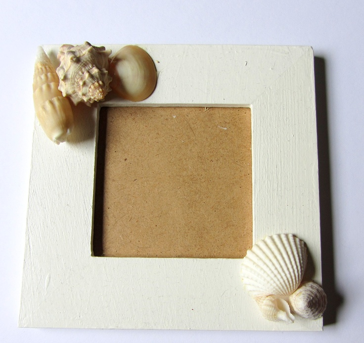 Beach Decor  Sea Shell Picture Frame by CereusArt on Etsy, $6.00