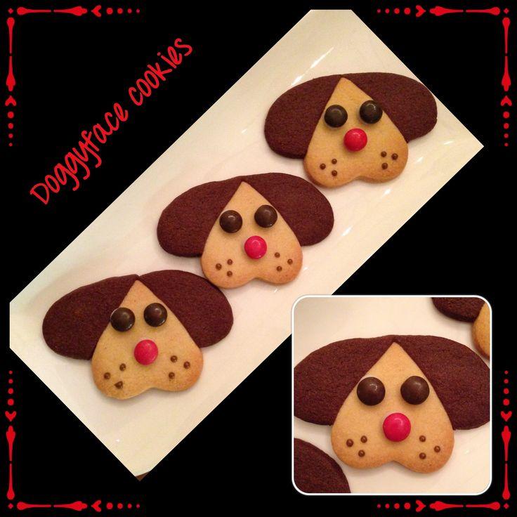 Dog face sugarcookies