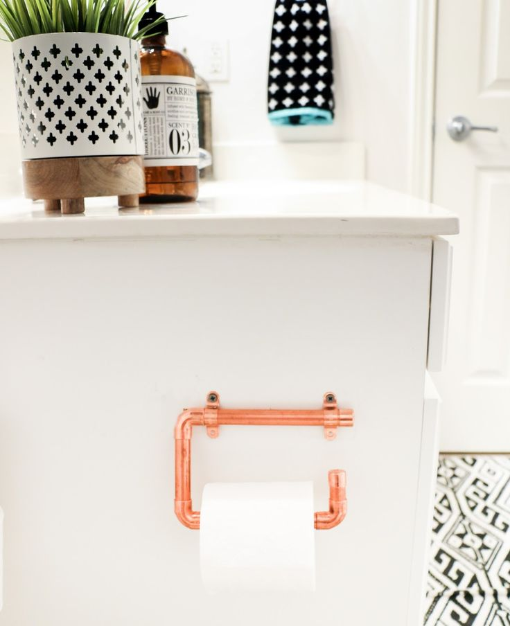 A Kailo Chic Life: DIY It - Copper Toilet Paper Holders