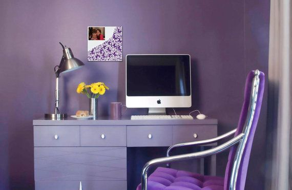 Wings of the moment 3D purple wall art on glow by CreativityWings