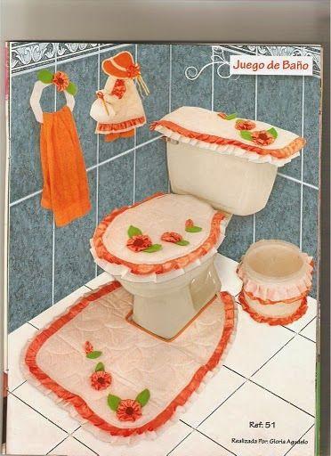 deco ... baño - orange