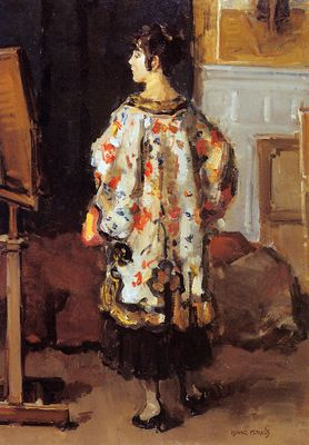 ☂ Paper Lanterns and Parasols ☂ Japonisme Art and Illustration - Isaac Israels | Model in Kimono