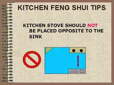 Kitchen Feng Shui Tips. Place a vase with water plant in between the stove and the sink
