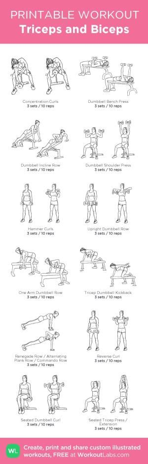 Triceps and Biceps : my custom printable workout by @WorkoutLabs #workoutlabs #customworkout by Alexandra A