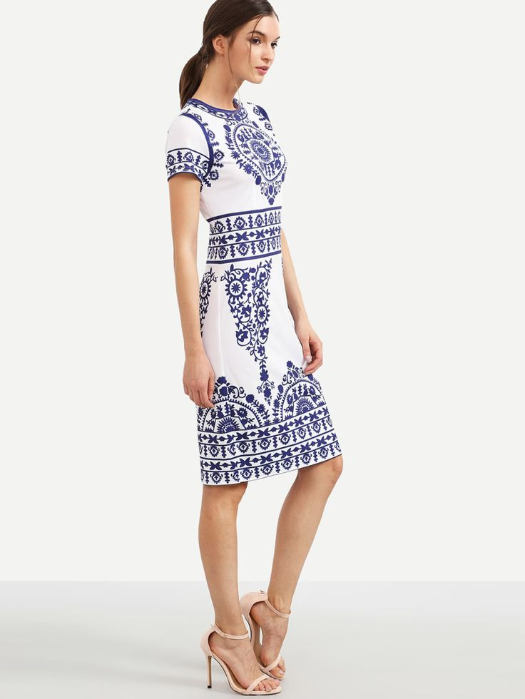 Shop Porcelain Print Pencil Dress online. SheIn offers Porcelain Print Pencil Dress & more to fit your fashionable needs.