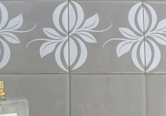 Tile tattoos are temporary decals for unsightly or boring tiles, designed specifically for kitchens and bathrooms.