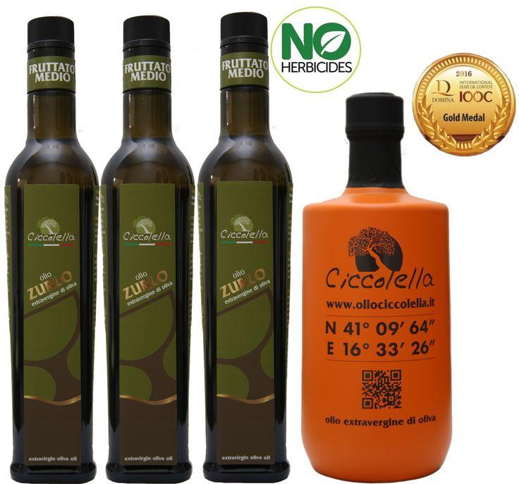 """L'olio extravergine d'oliva """"Zurlo"""" è un blend ottenuto da cultivar """"Coratina"""" e """"Ogliarola"""", è un olio fruttato medio, dalle note mandorlate e vegetali. Al naso offre profumi erbaceo-floreali che rimandano alla camomilla verde.  Al palato presenta un gusto pulito di note vegetali intrecciate alle delicate note piccanti per una condizione dinamica ed equilibrata.  Eccellente nell'esaltare piatti a base di pesce e verdure, formaggi freschi e salse delicate."""