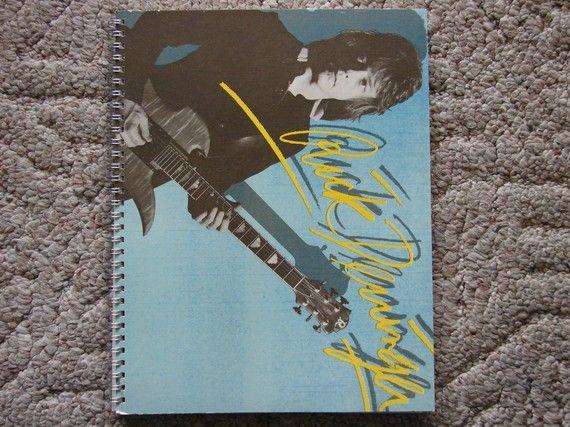 Rick Derringer Spiral Notebook by rockcycleonline on Etsy, $8.99
