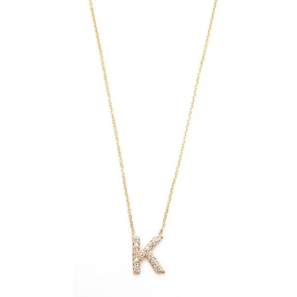 sarah chloe diamond letter gold necklace mxn liked on polyvore featuring jewelry necklaces k yellow gold charms gold charm necklace initial charm