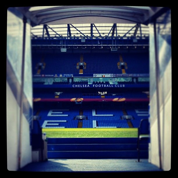 The view from the Stamford Bridge tunnel...