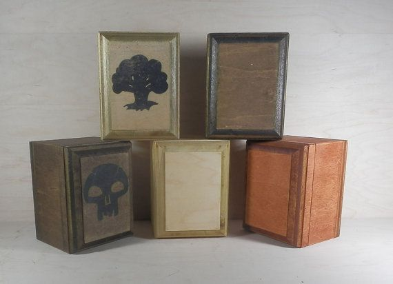 diy wood deck box. magic the gathering card box mtg deck pokemon by foxanddragon, $39.95 diy wood