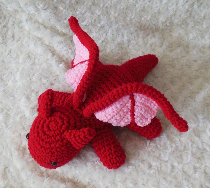 Free Crochet Pattern For Dragon Hat : 25+ best ideas about Crochet Dragon on Pinterest Crochet ...