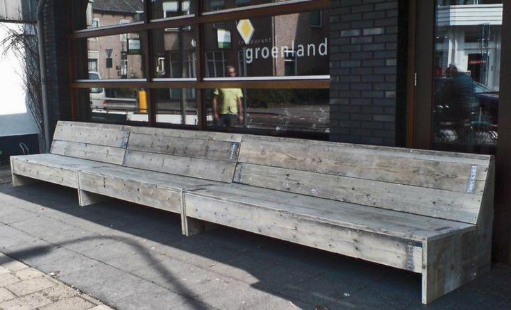 Steigerhouten Lange Bank Winkel | Bouwbedrijf van Rooy