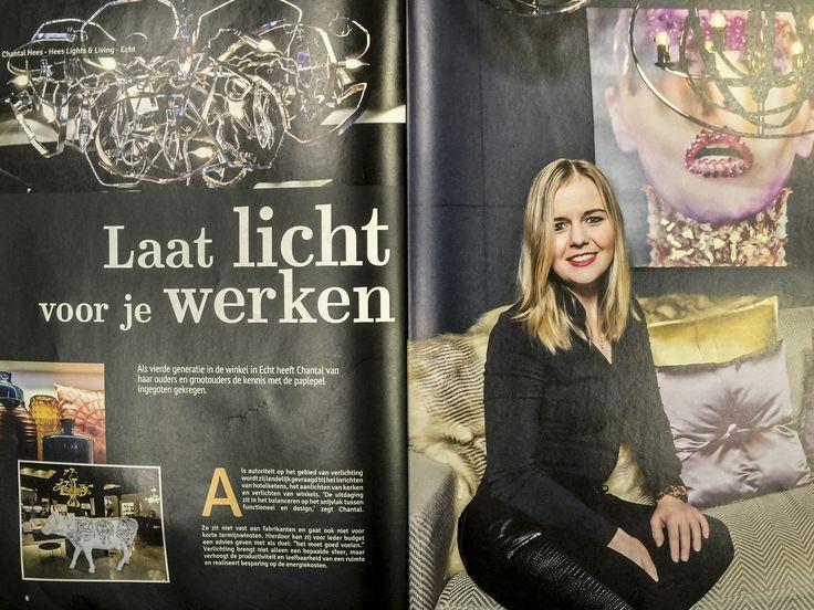 Chantal Hees over Hees Lights & Living in het 30-jarig jubileum magazine van Vendit.