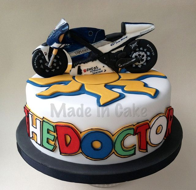 59 best bike cakes images – Valentino Rossi Birthday Card