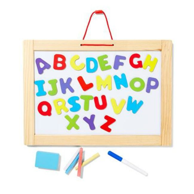 Finding Myself Young: My favourite educational toddler toys from Kmart - 3 in 1 portable magnetic whiteboard and blackboard