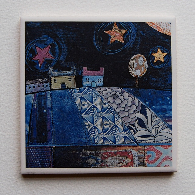 'Starry Night' Decorative Tile £9.00