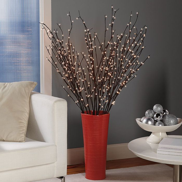 """Pre-Lit Willow Branches 