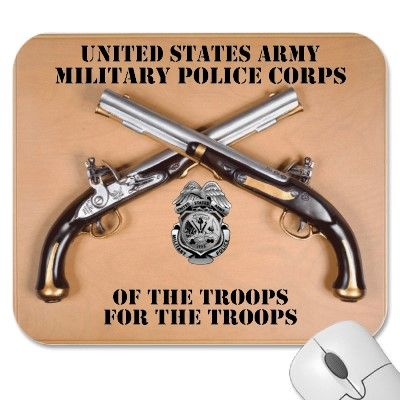 "Military Police Crossed Pistols and Badge. ""Of the Troops and For the Troops"".  #Army #Military #MilitaryPolice #CrossedPistols"