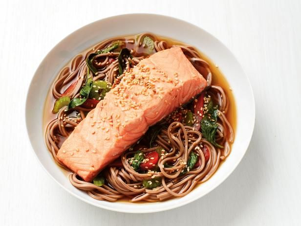 Get Soba Noodles with Salmon Recipe from Food Network