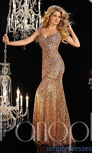Floor Length Sequin Panoply Dress at SimplyDresses.com @genlucchetti