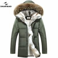 Men's and women's leisure down jacket high quality thick warm warm with Fur hooded parka brand yellow black white-Coats & Jackets-SheSimplyShops