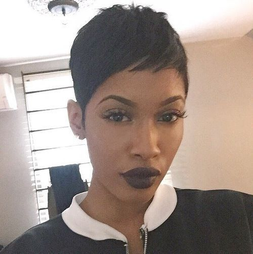 Peachy 1000 Ideas About Black Pixie Haircut On Pinterest Pixie Short Hairstyles Gunalazisus
