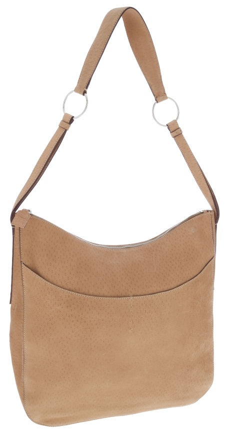 Prada Light Brown Leather Shoulder Bag with Exterior Pockets ...