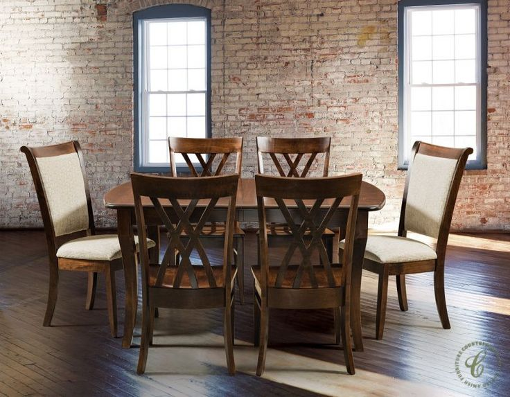 both a solid wood dining chair and fully upholstered chair accompany our sarandon butterfly dining table 332 best amish dining furniture images on pinterest  rh   pinterest com