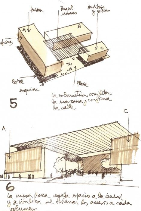 earrings Sketches for the Edificio MOP Rancagua in Rancagua  Chile by Iglesis Prat Arquitectos  amp  Tau 3 Arquitectos