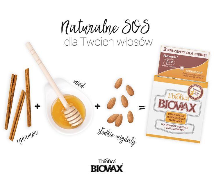 BIOVAX maseczka intensywnie regenerująca do włosów suchych i zniszczonych #włosy #suche #biovax #cynamon #migdyały #miód